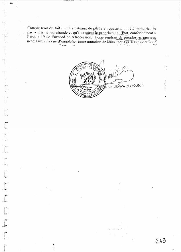Demande de poursuites judiciaires par l'État du Cameroun à l'encontre de la SCLM.