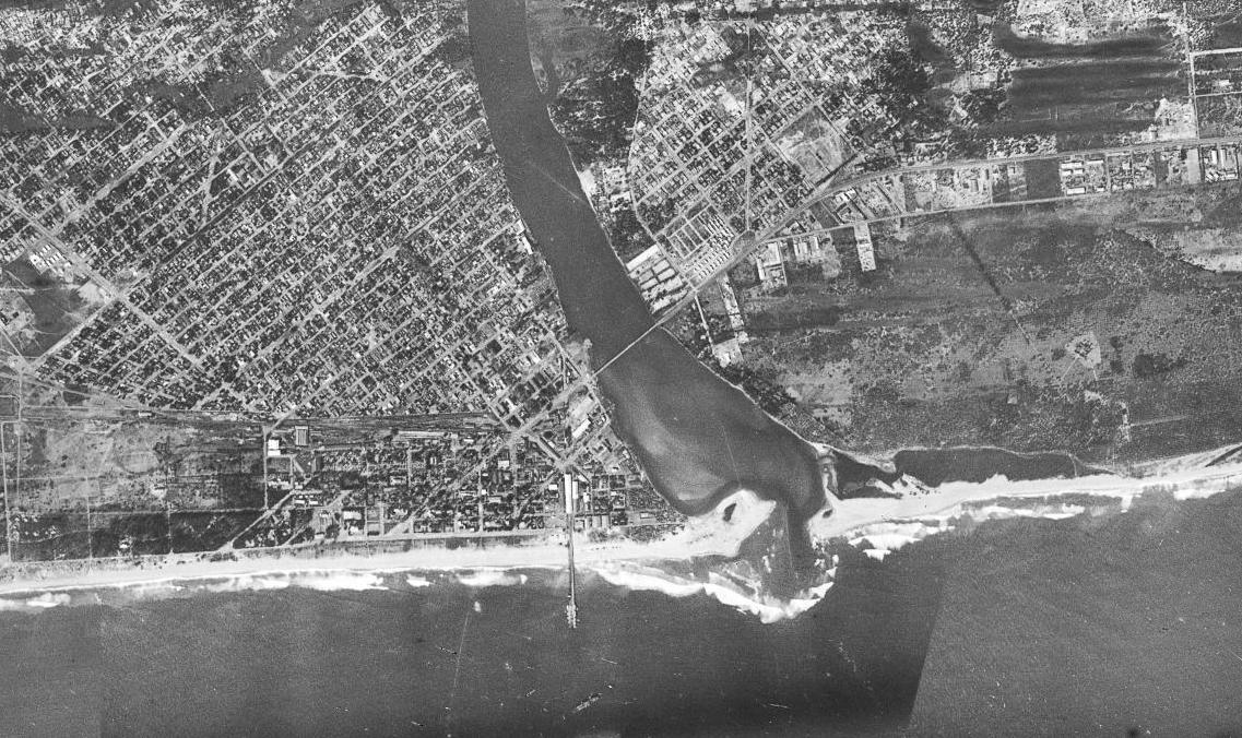 Une photo aérienne de Cotonou, conservée actuellement à l'IGN.