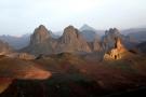 Le massif de l'Atakor, vu du plateau de l'Assekrem.