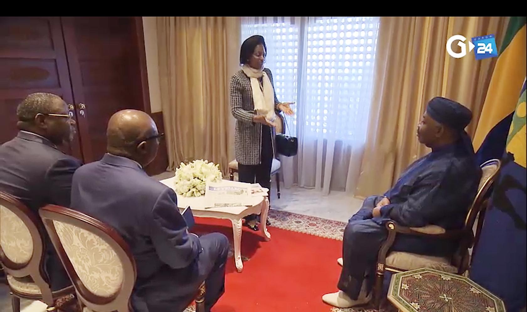 Le vice-président, le Premier ministre et la présidente de la Cour constitutionnelle du Gabon se sont rendus au chevet d'Ali Bongo Ondimba (ABO) le 4 décembre.