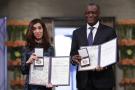 Denis Mukwege et Nadia Murad.