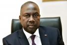 Adama Bictogo, dans son bureau le 19 août 2015 à Abidjan.
