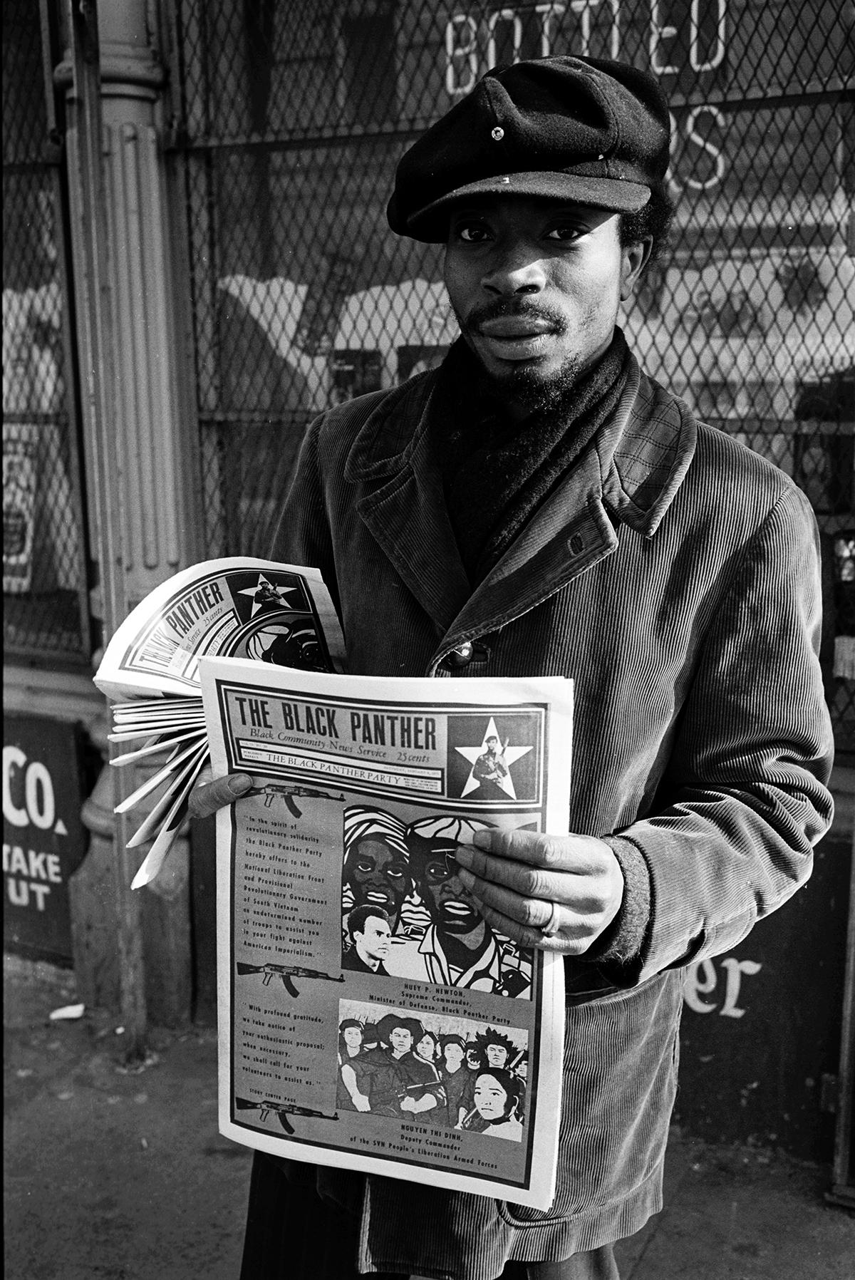 Un membre du Black Panther Party.
