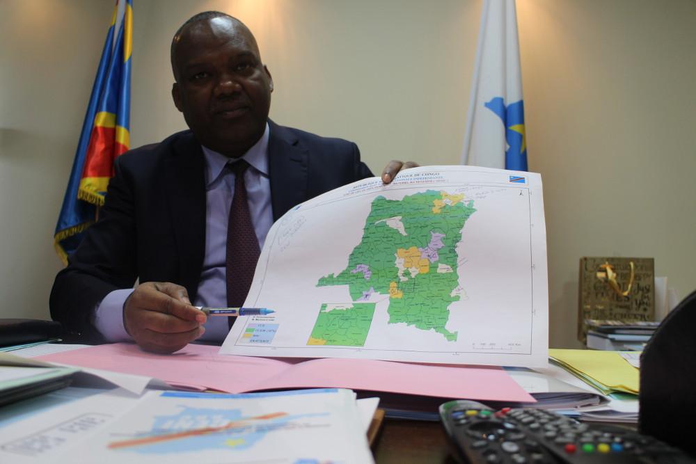 Corneille Nangaa, président de la Ceni, le 11 décembre 2018, à Kinshasa.