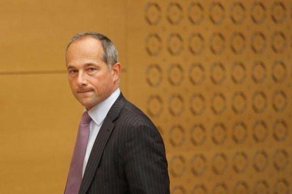 Frédéric Oudéa lui-même, le directeur général de Société générale (SG) au Sénat à Paris en 2016