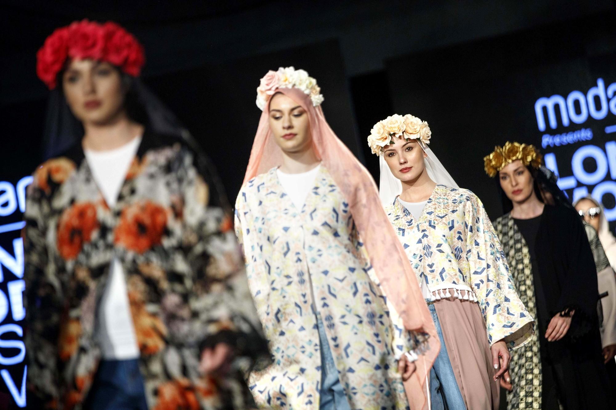 Fashion Week «pudique» de Londres, en avril 2017.
