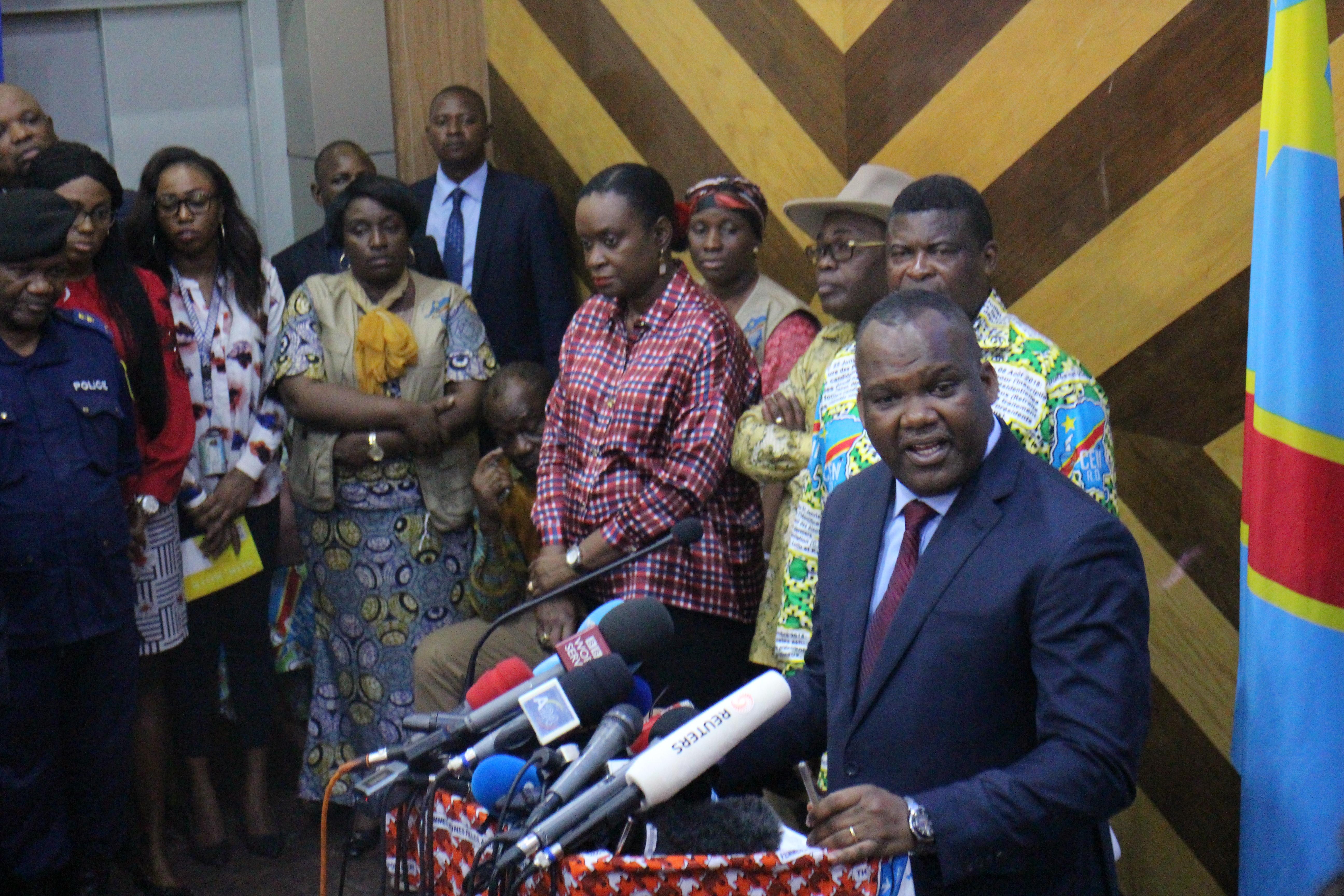 Corneille Nangaa, président de la Ceni, le 13 novembre 2018, à Kinshasa.