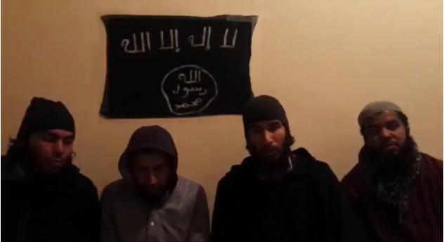 Les auteurs du double meurtre d'Imlil, dans leur vidéo d'allégeance à l'organisation État islamique.