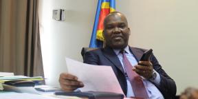Corneille Nangaa, président de la Ceni, le 11 novembre 2018, à Kinshasa.