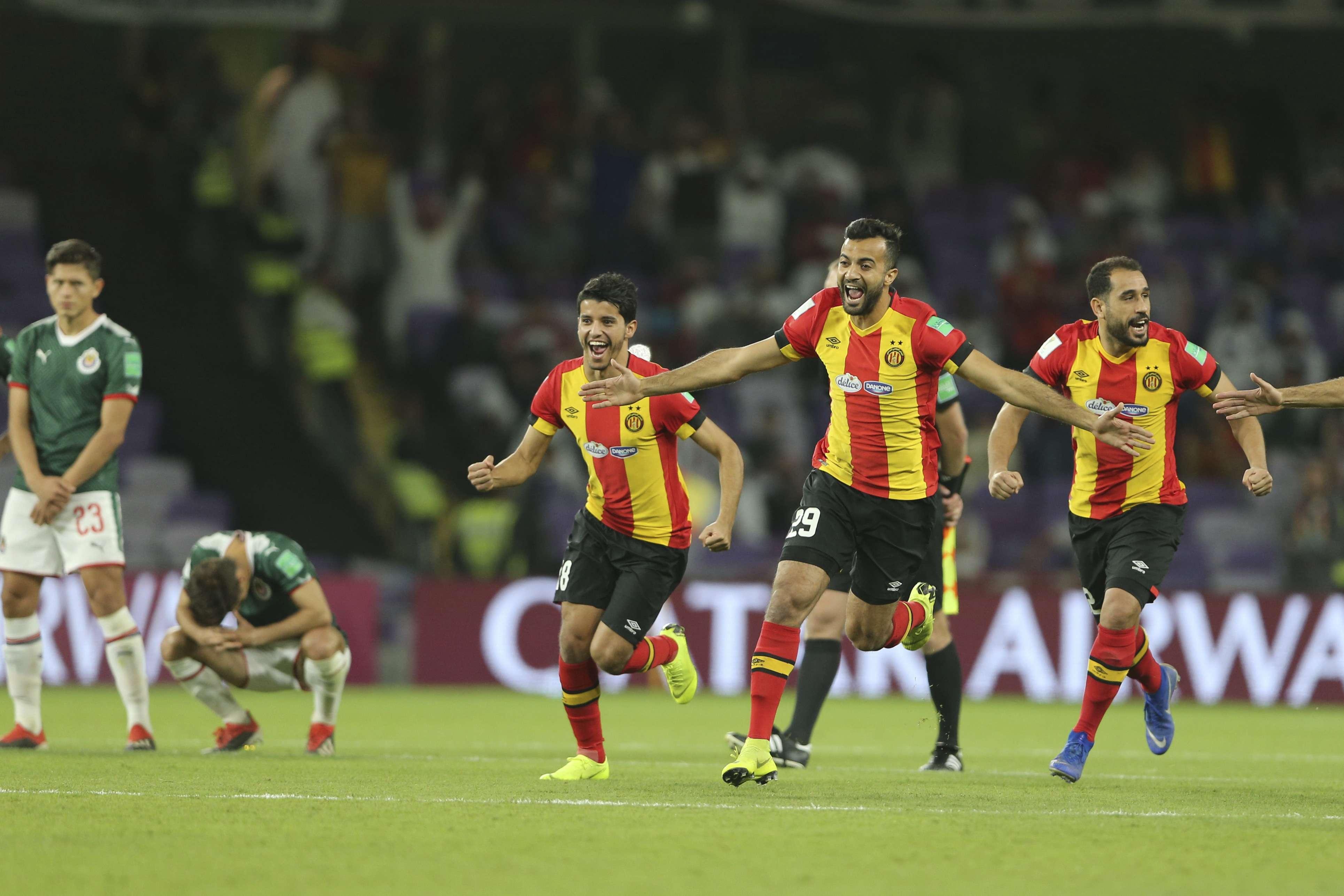 L'équipe de l'Espérance Tunis face au club de Guadalajara le 18 décembre 2018.