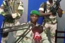 Une capture d'écran de la vidéo dans laquelle le lieutenant Kelly Ondo Obiang appelle à la mise en place d'un «Conseil national de restauration» au Gabon, le 7 janvier 2019.