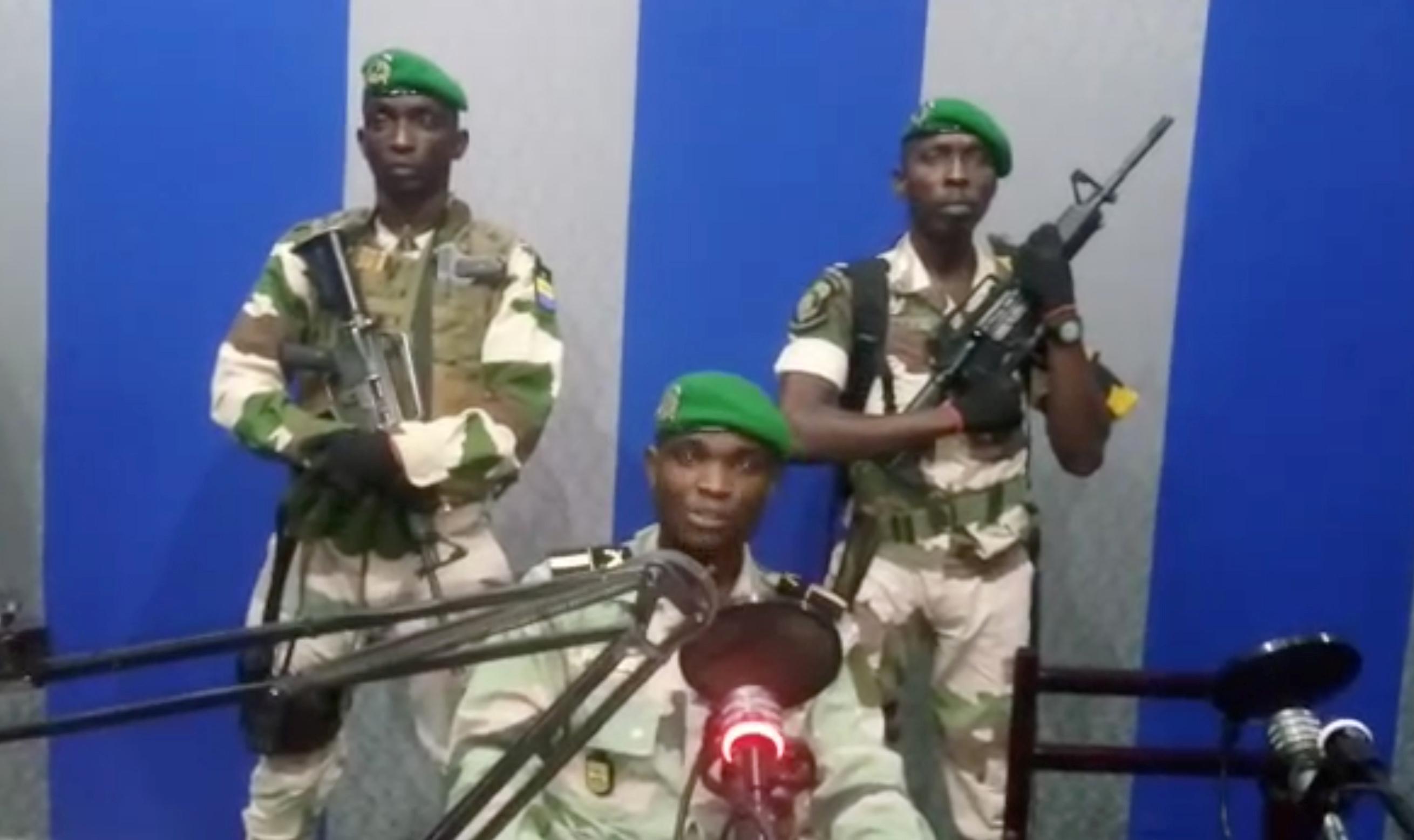 Une capture d'écran de la vidéo dans laquelle le lieutenant Kelly Ondo Obiang appelle à la mise en place d'un