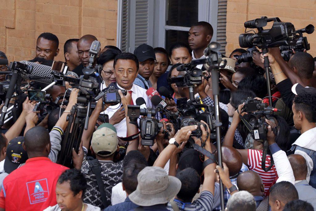 Marc Ravalomanana, lors d'une conférence de presse à Antananarivo, le 19 décembre 2018.