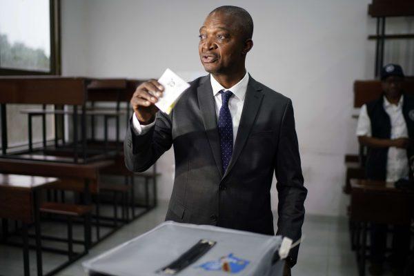 Emmanuel Ramazani Shadary lors du scrutin présidentiel en RDC du 30 décembre 2018.