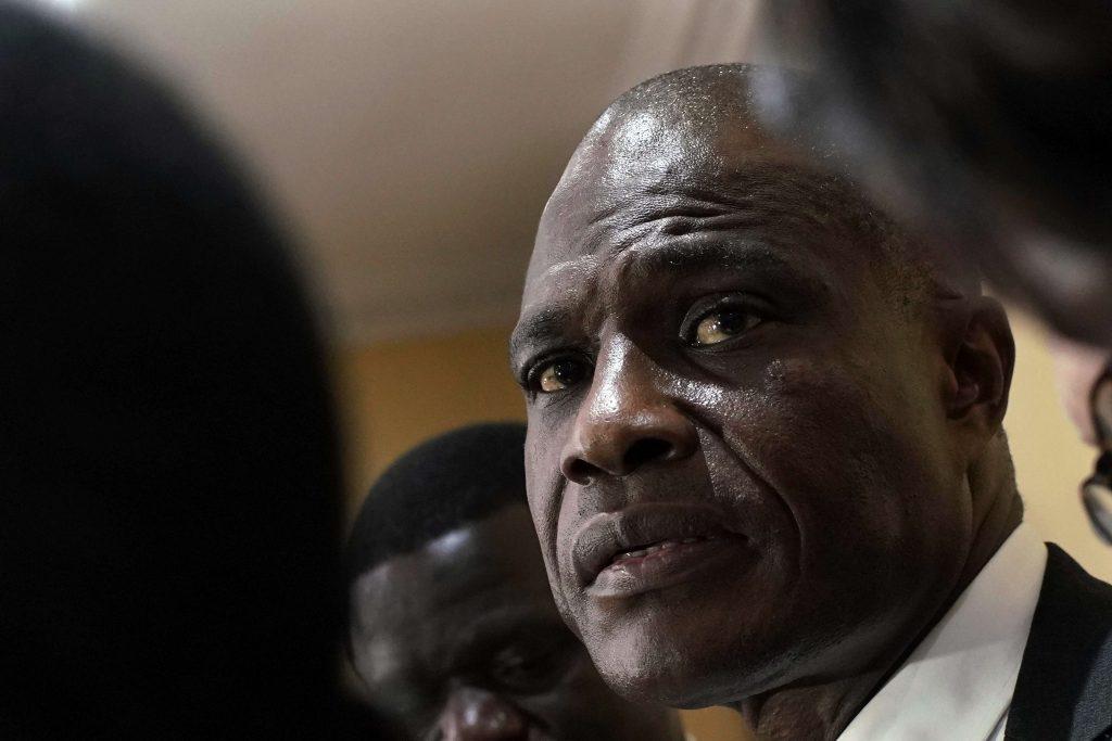 Martin Fayulu, lors d'une conférence de presse à Kinshasa, le 8 janvier 2019.