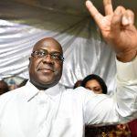 Félix Tshisekedi, quelques instants après la proclamation de sa victoire par la Ceni, dans la nuit du 9 au 10 janvier 2019.