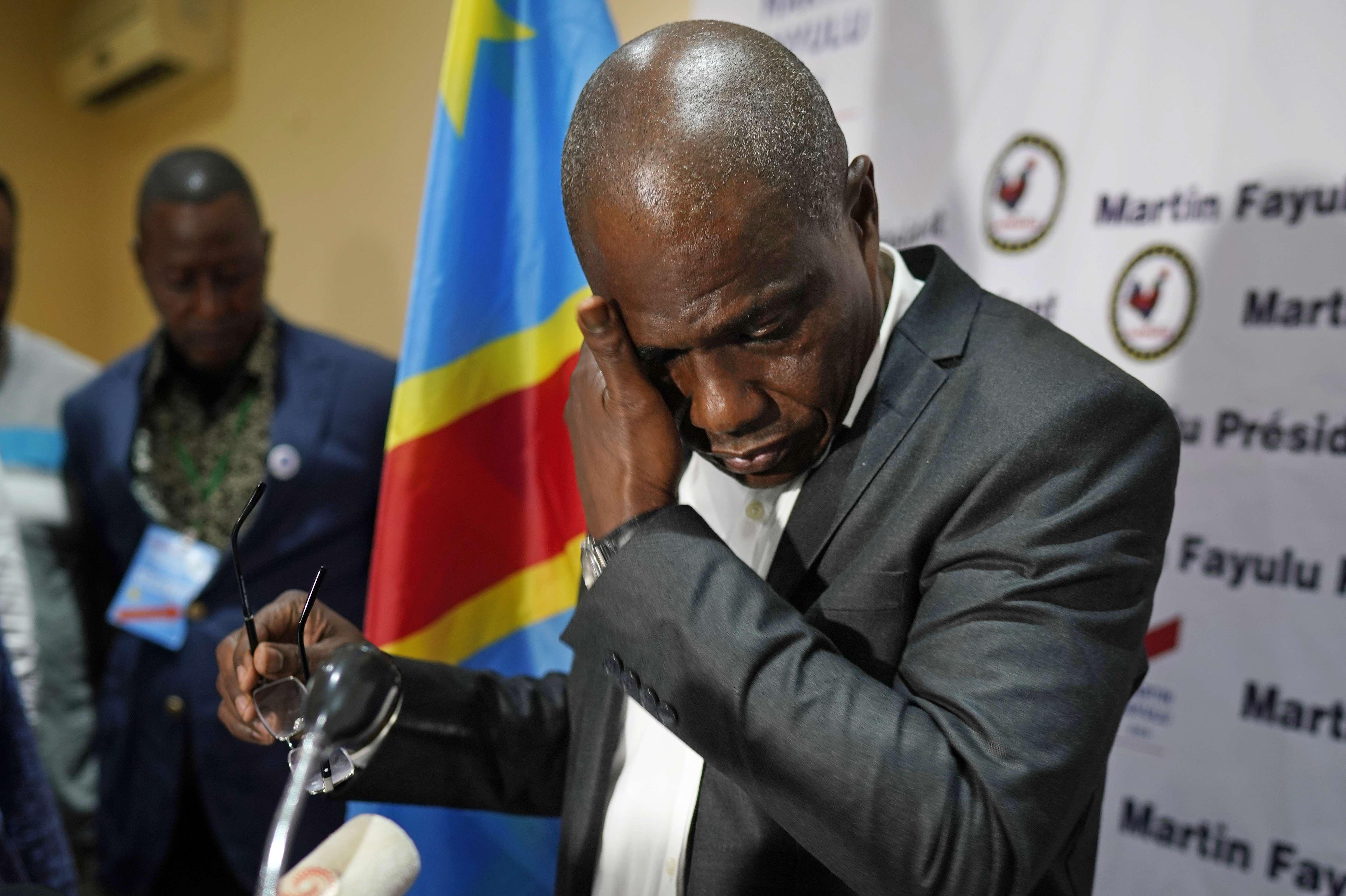 L'opposant Martin Fayulu, arrivé deuxième selon les résultats de la Ceni, le 10 janvier 2019.