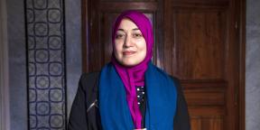 La députée d'Ennahdha Saïda Ounissi au Bardo, le 16 mars 2015.