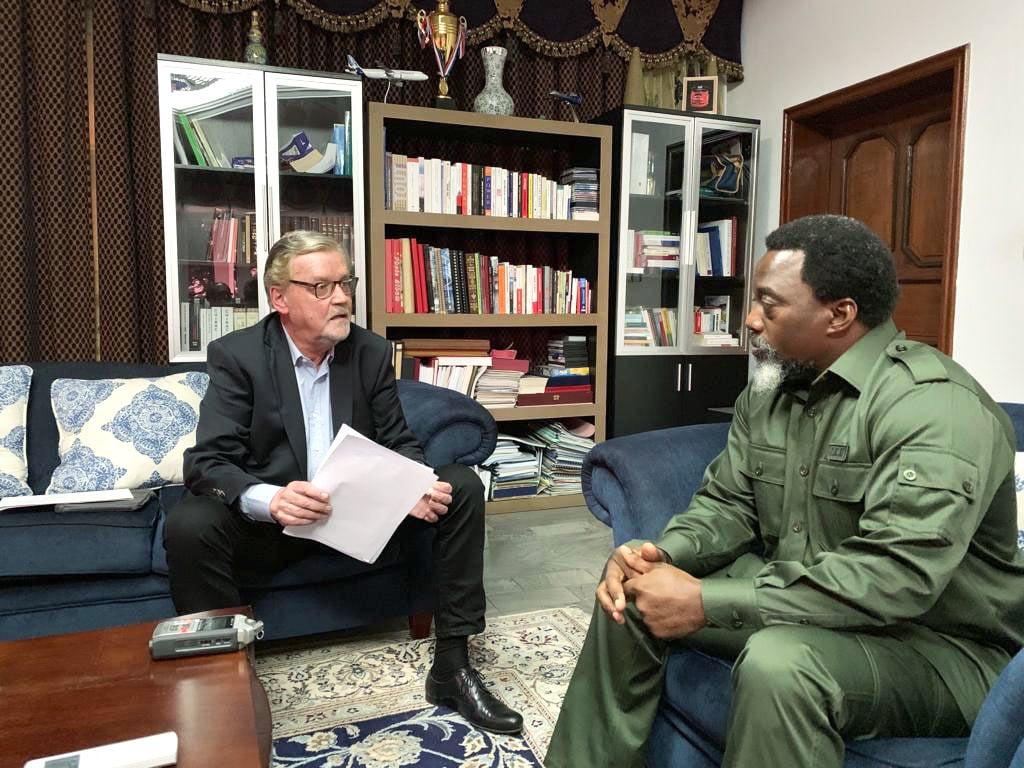 Lors de l'entretien, le 29décembre, à Kinshasa.