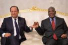 François Hollande et Ibrahim Boubacar Keïta, à Bamako, en septembre2013.