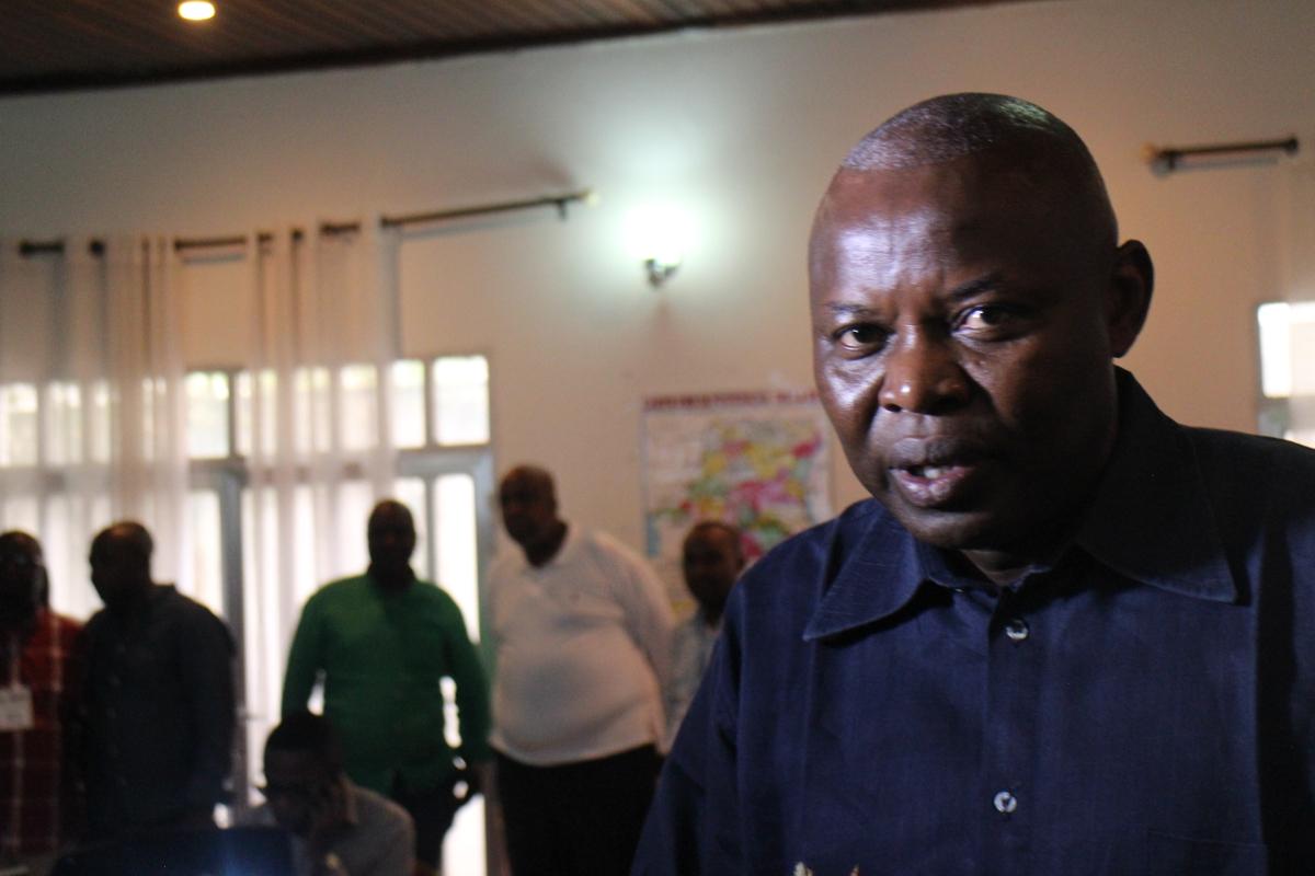 Vital Kamerhe dans la centrale électorale de Cach, le 8 janvier 2019, à Kinshasa.