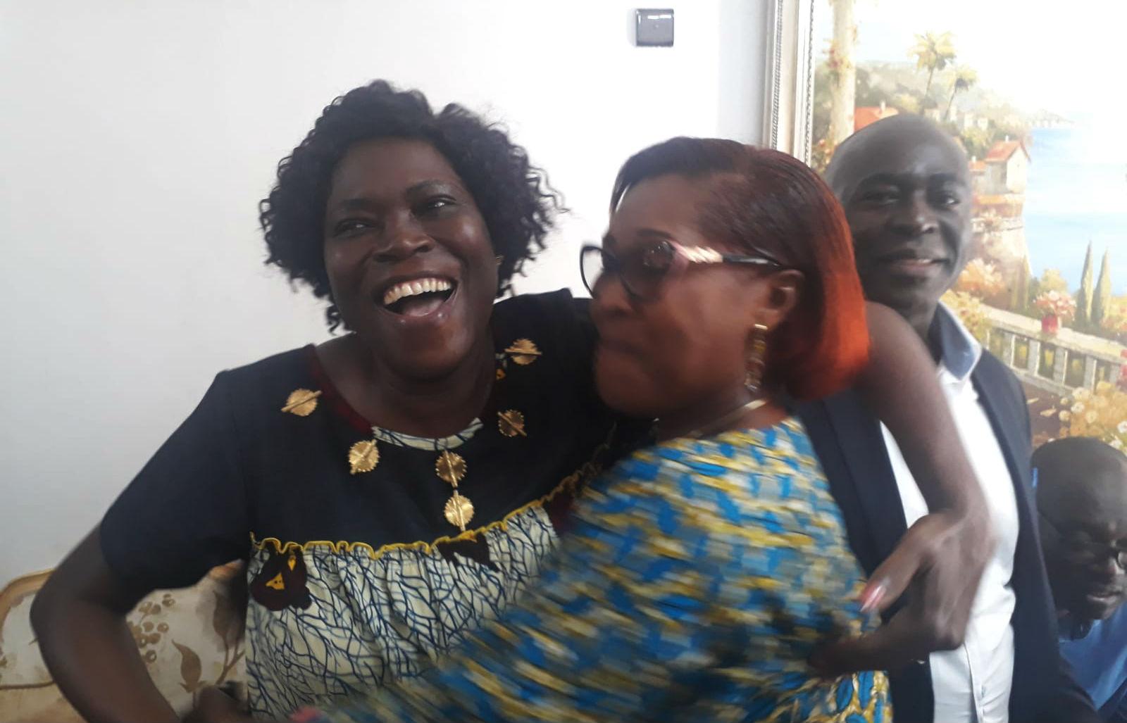 Simone Gbagbo, quelques minutes après l'annonce de l'acquittement de Laurent Gbagbo, à son domicile d'Abidjan.