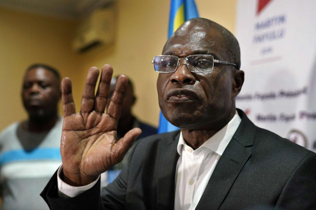 Martin Fayulu, le 10 janvier 2019 à Kinshasa.