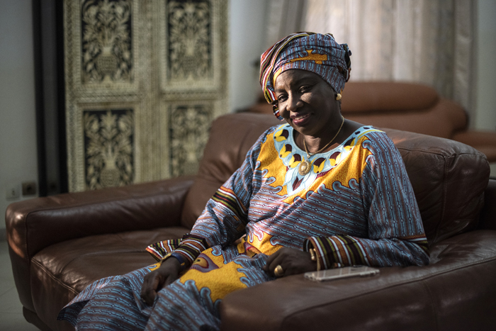 Aminata Touré à son domicile à Dakar, le 16 janvier 2019.