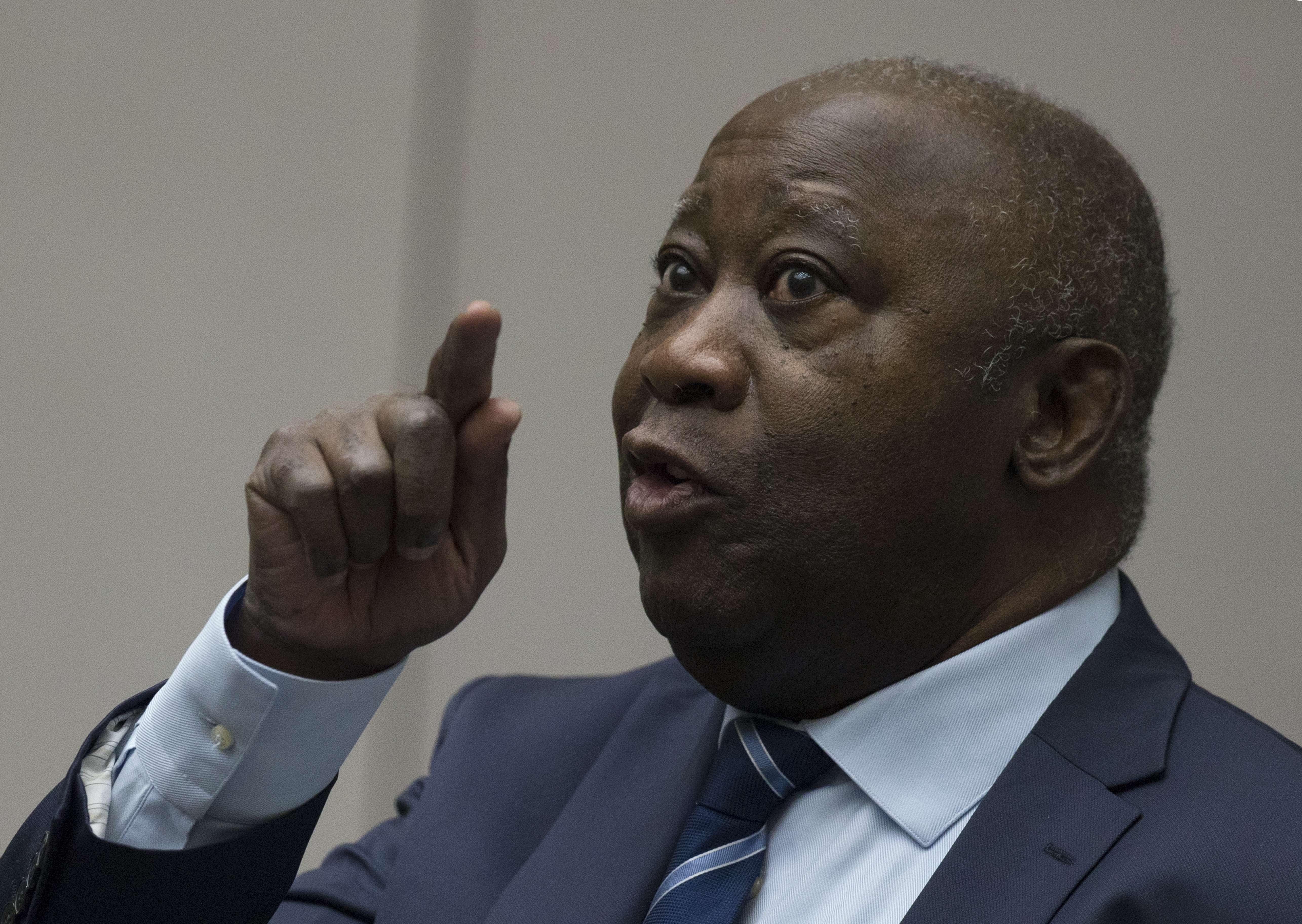 Laurent Gbagbo, à la CPI le mardi 15 janvier 2019.