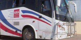 Un bus de la compagnie de transport Axa au Malawi.
