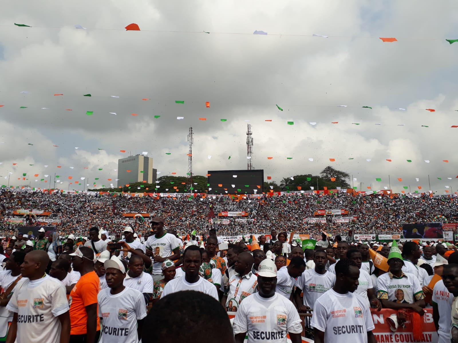 Lors du congrès du RHDP, le 26 janvier 2019 Abidjan.