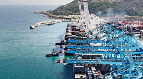 Port de Tanger Med, au nord du Maroc.