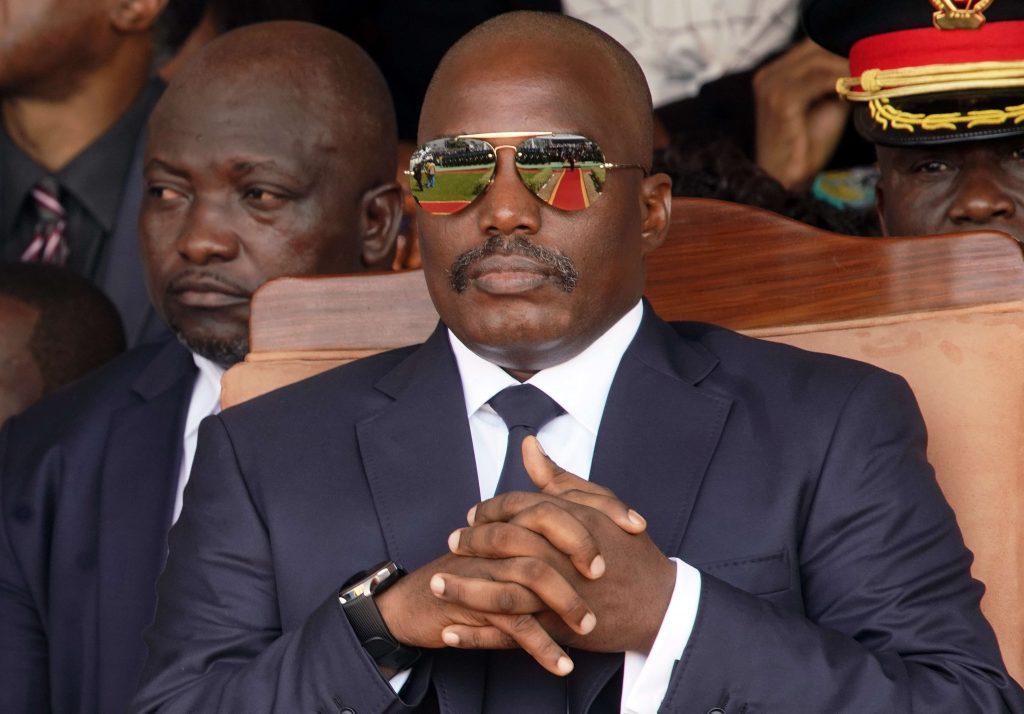 Joseph Kabila, lors de l'investiture deFélix Tshisekedi, le 24 janvier 2019.
