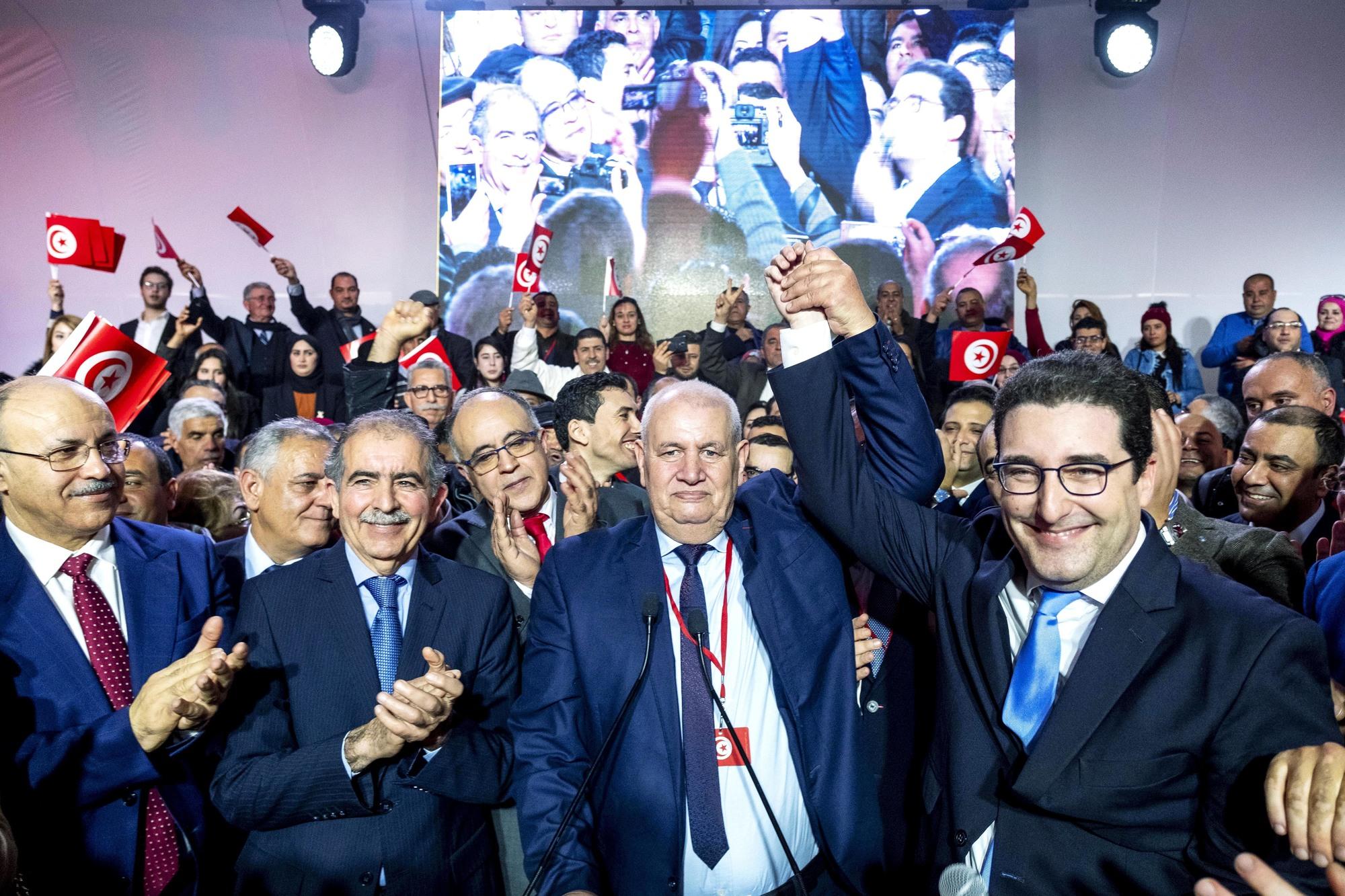 Meeting de lancement du parti Tahya Tounes, à Monastir, le 27janvier.
