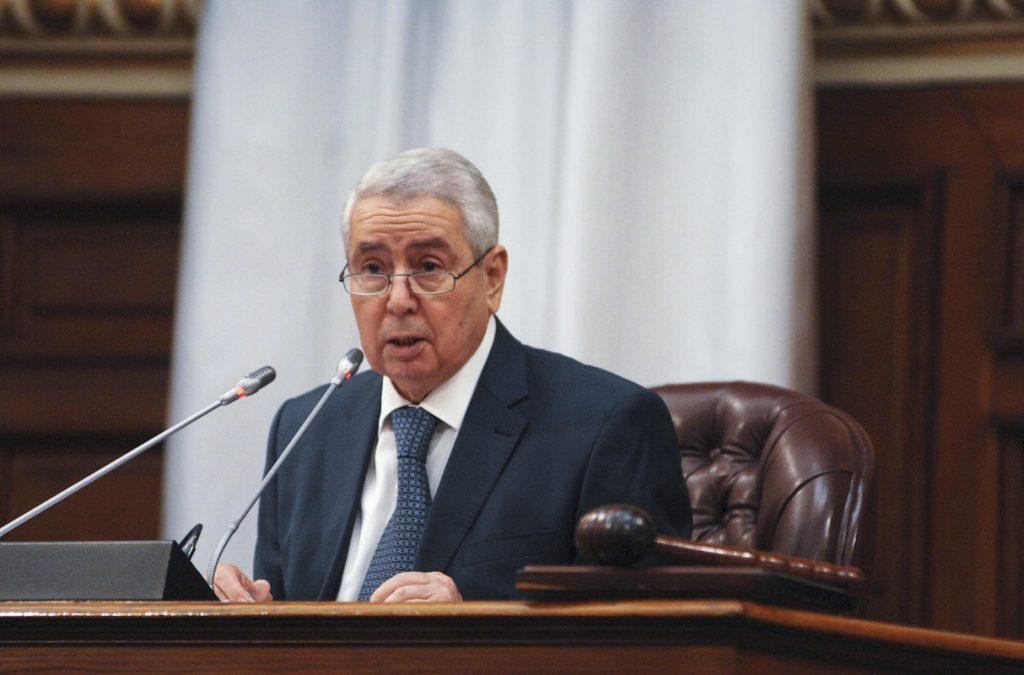 L'ancien président du Conseil de la nation, la deuxième chambre du Parlement algérien, Abdelkader Bensalah.