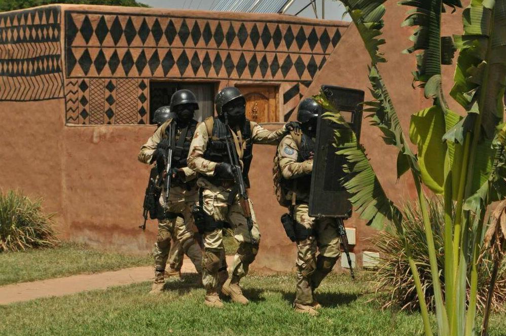 Des militaires burkinabè à l'entraînement.