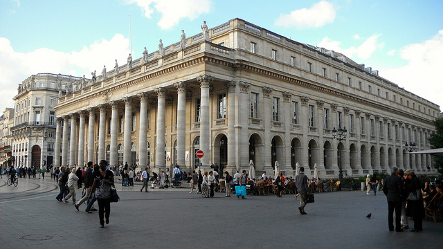 Place de la Comédie, à Bordeaux.