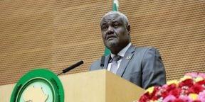Le président de la Commission de l'Union africaine, lors de l'ouverture du sommet, le 7 février 2019.