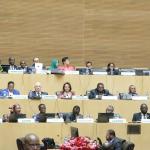 Lors de la rencontre des ministres des Affaires étrangères des pays membres de l'UA, précédent le 32e sommet des Chefs d'Etat africains, le 9 février à Addis-Abeba.