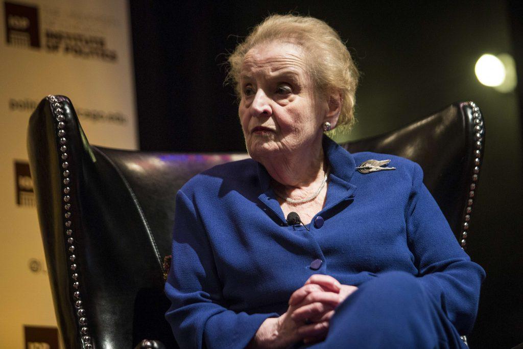Madeleine Albright en avril 2018 à Chicago.