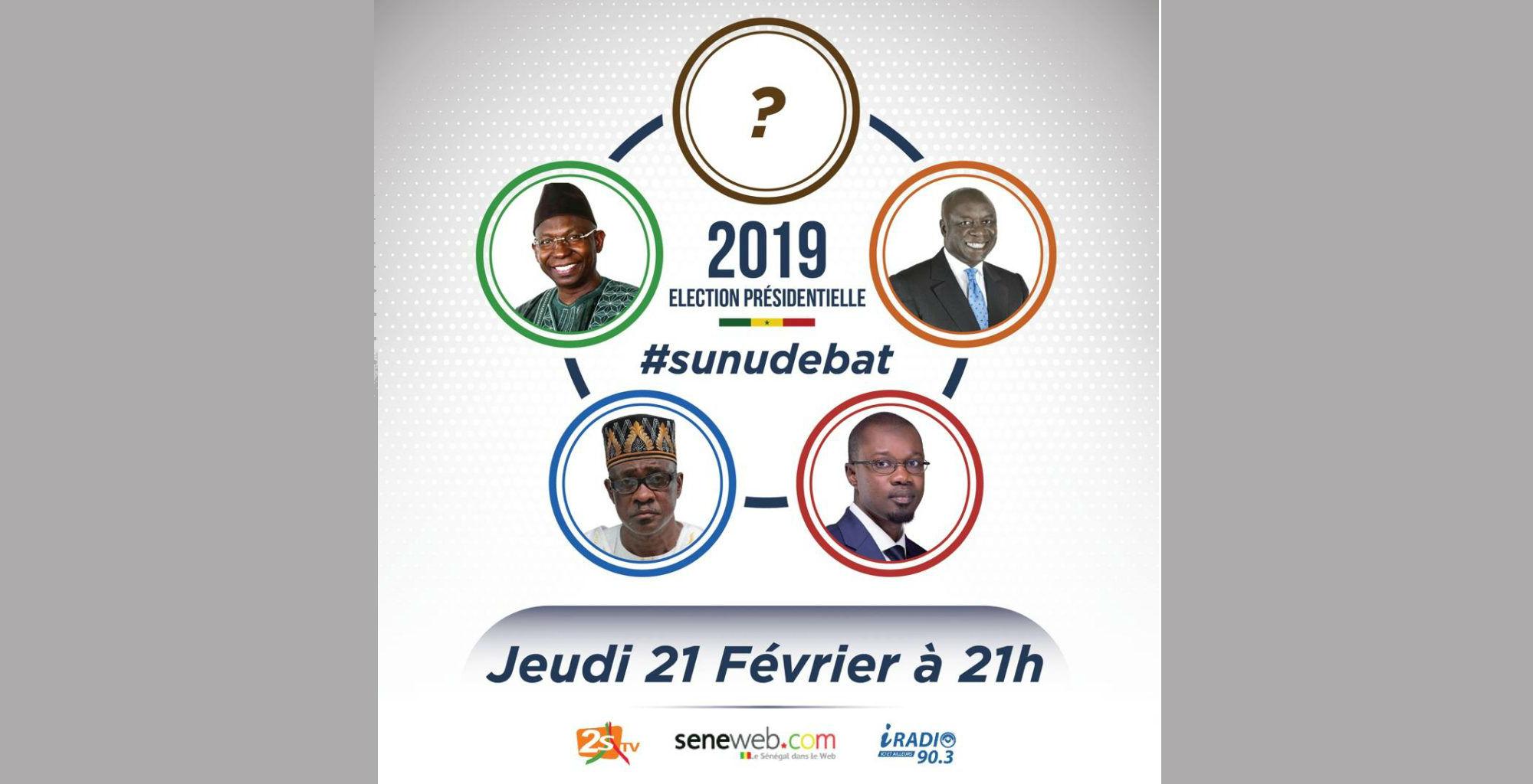 #SunuDébat devait initialement se tenir le jeudi 21 février à 21 heures.