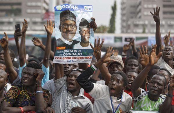 Des partisans de Muhammadu Buhari, le 13 février 2019 au Nigeria.