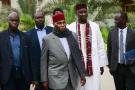 Abdoulaye Wade, à son arrivée au comité directeur du PDS, mercredi 13 février 2019.