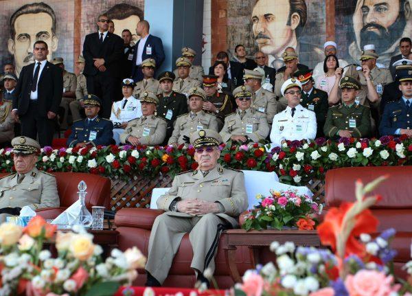 Le général Ahmed Gaïd Salah à l'académie militaire Houari-Boumédiène de Cherchell, en juillet2018 (image d'illustration).
