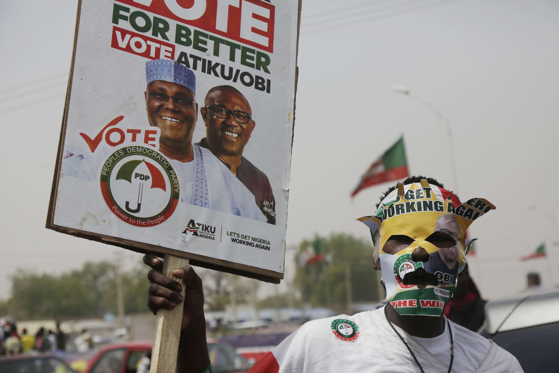 Un supporter d'Atiku Abubakar.