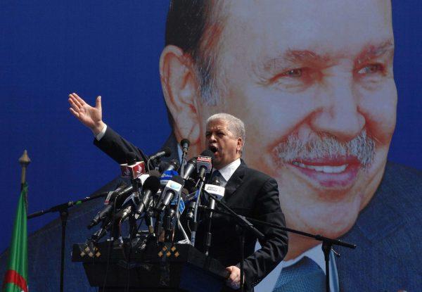 Abdelmalek Sellal, ancien Premier ministre d'Abdelaziz Bouteflika et directeur de campagne, ici en 2014.