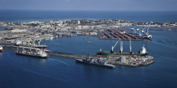 Le port autonome et la ville de Djibouti., en 2015 (illustration).