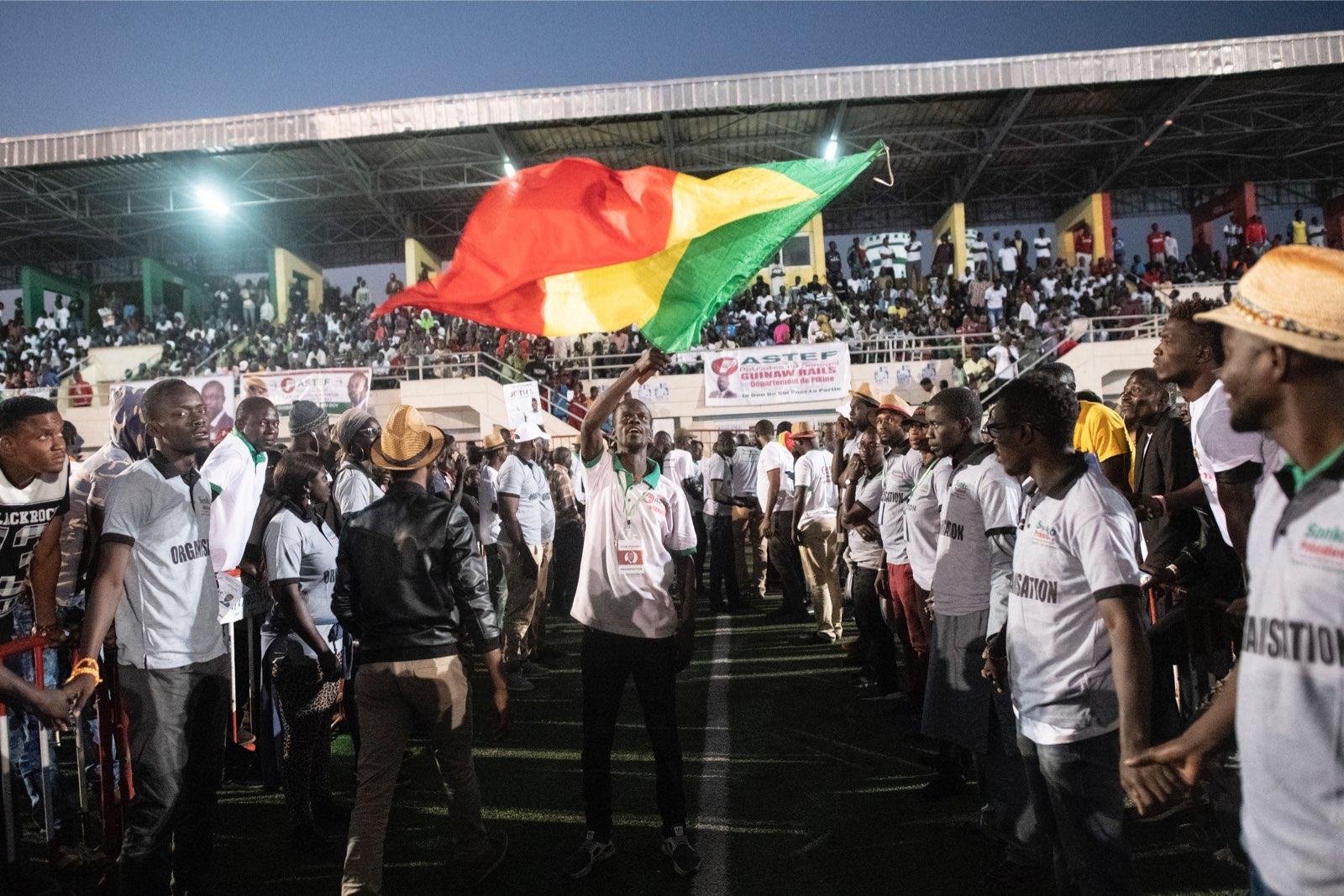 Lors du meeting d'Ousmane Sonko à Pikine le 21 février 2019.