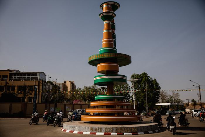 La place des cinéastes à Ouagadougou.