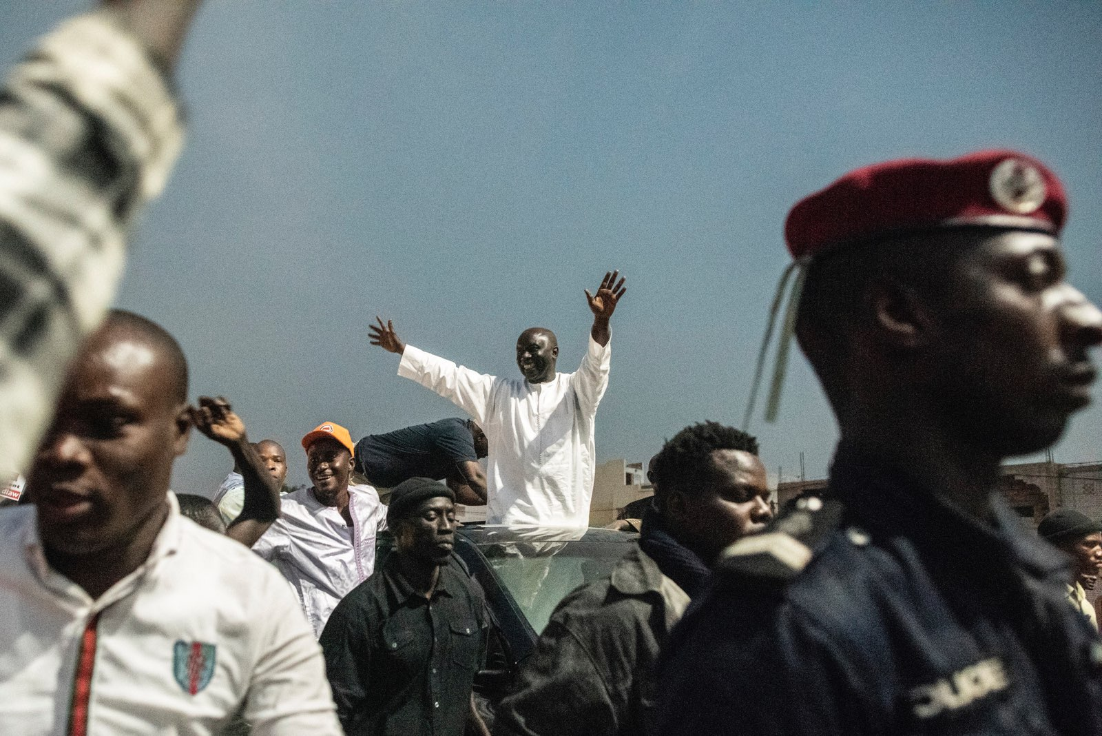 Idrissa Seck, à son arrivée à l'un de ses meeting.
